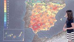 Chubascos fuertes en Levante y subida de temperaturas