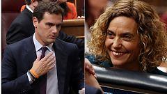 """Rifirrafe entre Albert Rivera y Meritxell Batet al hablar los independentistas de """"presos políticos"""""""