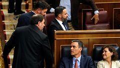 Los presos independentistas acaparan la atención en la constitución de las Cortes