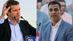 """Casado se ofrece como """"contrapeso"""" al independentismo y Sánchez le pide """"que se eche a un lado"""""""