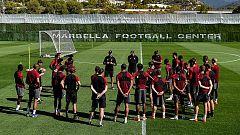 El Liverpool prepara la final de Champions en Estepona
