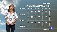 El tiempo en Extremadura - 24/05/19
