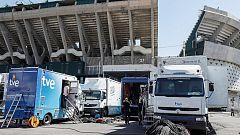 Todo listo en Sevilla para la final de Copa