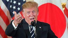 Trump visita Japón y pide una mayor inversión en Estados Unidos