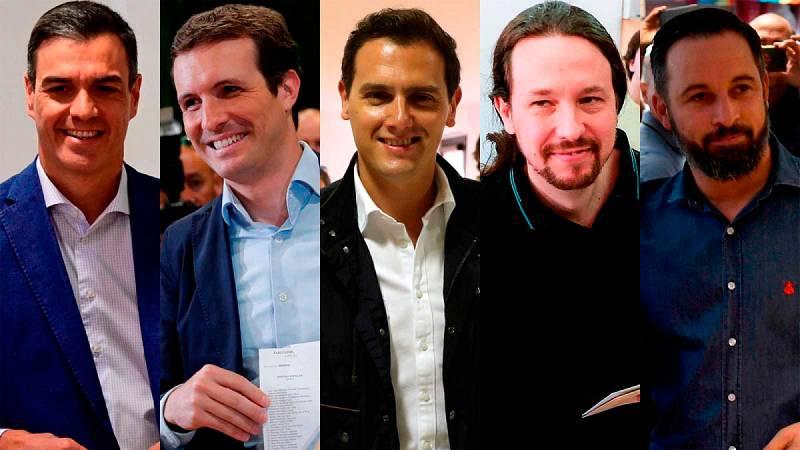 Los líderes de los principales partidos votan llamando a la participación