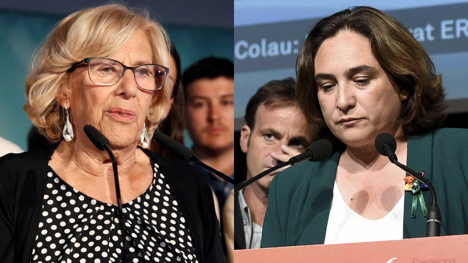 Carmena pierde la alcaldía de Madrid y Colau felicita a Maragall por su victoria