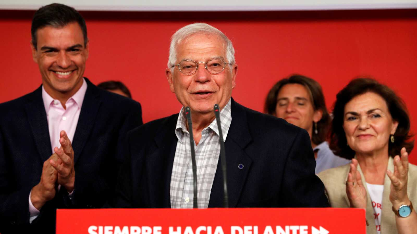 Borrell celebra la victorial del PSOE en las europeas y destaca la tradición profundamente europeista del partido