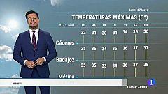 El tiempo en Extremadura - 27/05/19