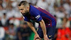 Jordi Alba hace autocrítica tras perder la final de Copa