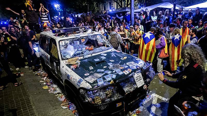 El Supremo comienza a visionar los vídeos del 20S y del 1-O en Cataluña
