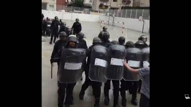 Vídeos de la intervención policial en Dosrius el 1-O