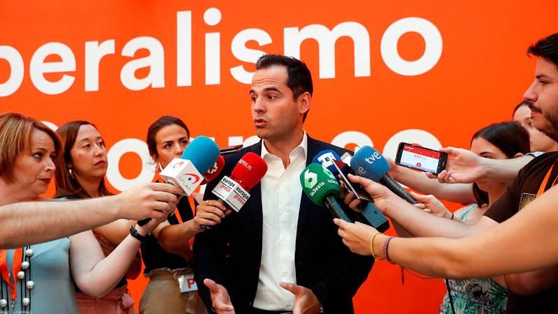 Aguado asegura que solo negociará con el PP y descarta que Ciudadanos apoye a Carmena o Gabilondo