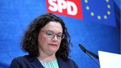 Dimite la líder de los socialistas alemanes tras la debacle del partido en las elecciones europeas