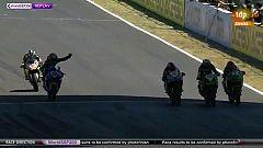 Superbike: Un piloto celebra antes de tiempo y facilita el triplete español en Supersport 300
