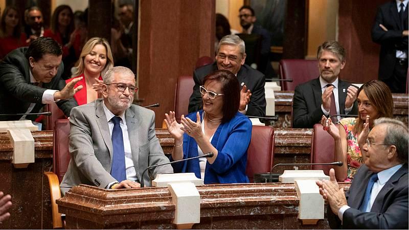 Ciudadanos preside el parlamento de Murcia con el voto a favor del PP y en blanco de Vox