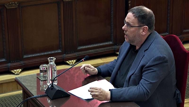 """Junqueras pide en su última palabra devolver la cuestión de Cataluña """"al terreno de la política"""""""
