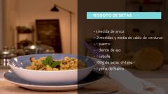 Receta de risotto de setas y verduras