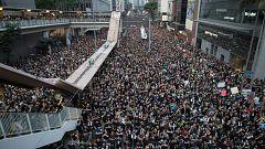 Masiva manifestación en Hong Kong para exigir la retirada definitiva de la ley de extradición