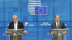 Los líderes de la UE se atascan en el reparto de los principales cargos y se citan el 30 de junio