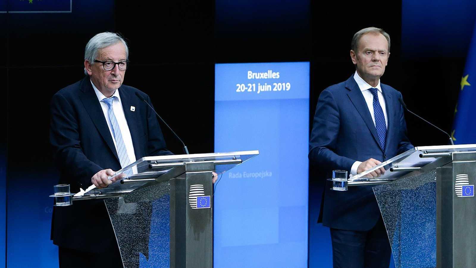 Tusk y Juncker constatan la falta de acuerdo en la UE para renovar los cargos