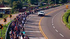 Migrantes de África y Haití llegan a la frontera entre Guatemala y México
