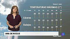 El tiempo en Extremadura - 21/06/19