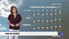 El tiempo en Castilla y León - 21/06/19