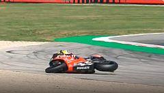 Bautista sufre una caída en la segunda vuelta de carrera