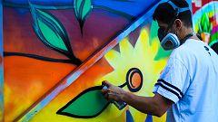 El arte urbano convierte en lienzo las calles de un suburbio de Johannesburgo