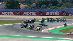 Siete caídas en una vuelta en la carrera de Supersport300