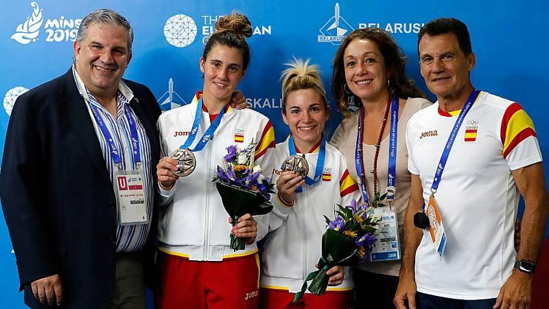 El sambo ha dado dos nuevos metales a España en los Juegos Europeos de Minsk 2019. Irene Díaz y Yaiza Jiménez se han colgado sendas medallas de bronce en las categorías de -52 y -60 kilos.