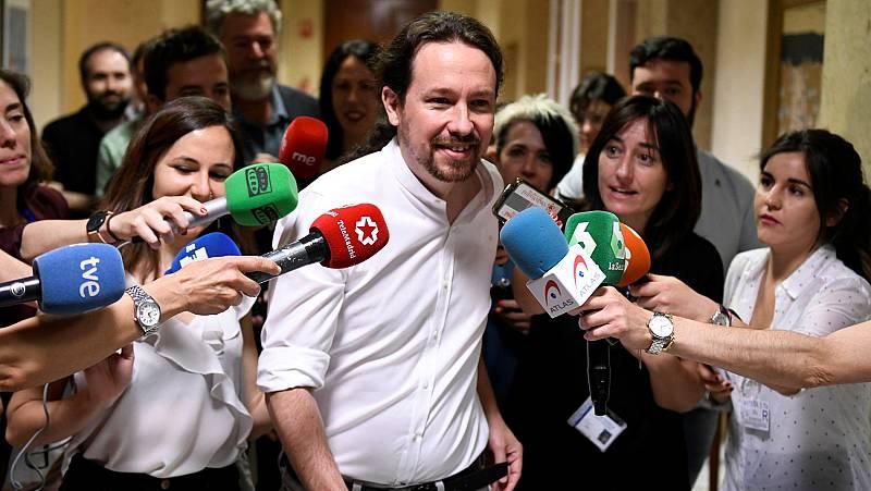 """Iglesias insiste en un gobierno de coalición """"en la proporción"""" de la fuerza del PSOE y de Podemos"""