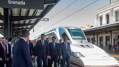 El AVE Madrid-Granada realiza su viaje inaugural tras una década de obras
