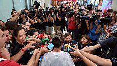 Gran recibimiento a la selección española tras el Mundial de Francia