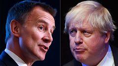 Las estrategias para el 'Brexit' centran la campaña de Johnson, que evita debatir con Hunt