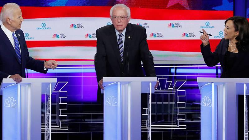 Ataques a Trump en el segundo debate de candidatos a las primarias demócratas