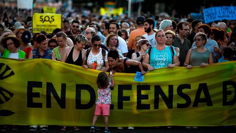 Manifestación en apoyo a Madrid Central
