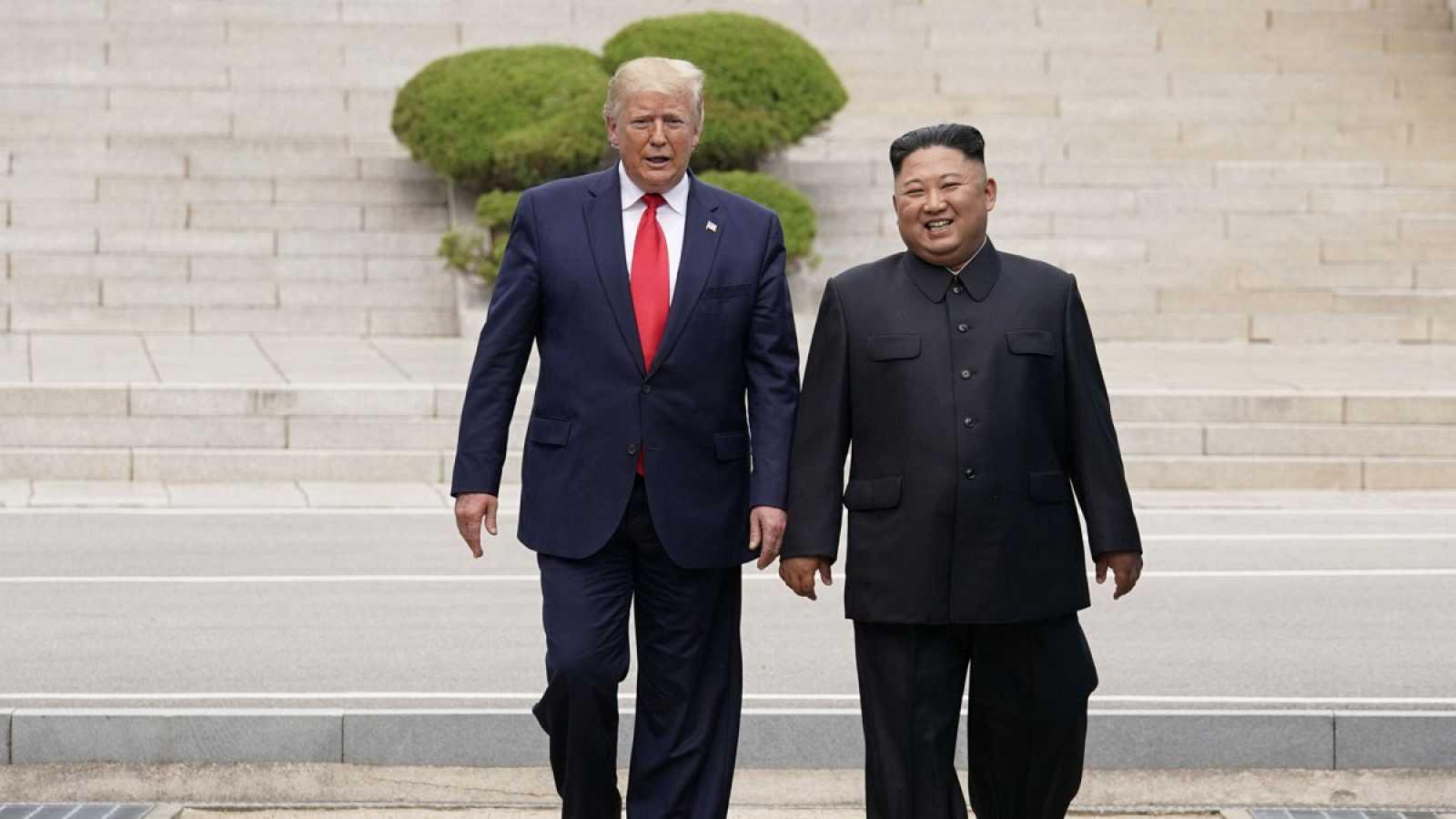 """Trump, primer presidente estadounidense en entrar en Corea del Norte: """"Es un gran día para el mundo"""""""