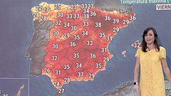 El riesgo por calor y tormentas afectará este jueves a 14 provincias