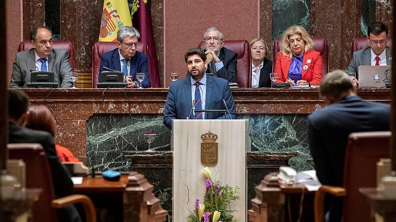 Vox tumba la investidura del popular Fernando López Miras en Murcia