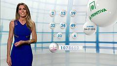 Lotería Nacional + La Primitiva + Bonoloto - 04/07/19