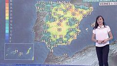 Temperaturas altas en el nordeste de la península y tormentas en Asturias y Galicia