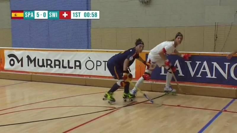 Hockey sobre patines- World Roller Games femenino: España - Suiza - ver ahora