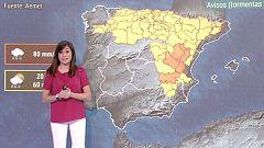 La semana comienza con temperaturas más bajas y avisos por tormentas