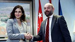 """Ayuso pide """"responsabilidad"""" a Cs y a Vox en las conversaciones para formar gobierno en Madrid"""