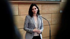 """Díaz Ayuso apela a Cs y a Vox al """"entendimiento"""" para formar gobierno en la Comunidad de Madrid"""