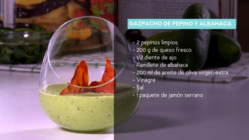 Receta de gazpacho de pepino y albahaca