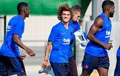 Griezmann, Neto y De Jong, caras nuevas en los primeros entrenamientos del Barça