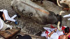 Los encierros de los Sanfermines de 2019 dejan nueve heridos por asta de toro