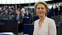 Ursula von der Leyen promete medidas sociales y medioambientales para convencer al Parlamento Europeo